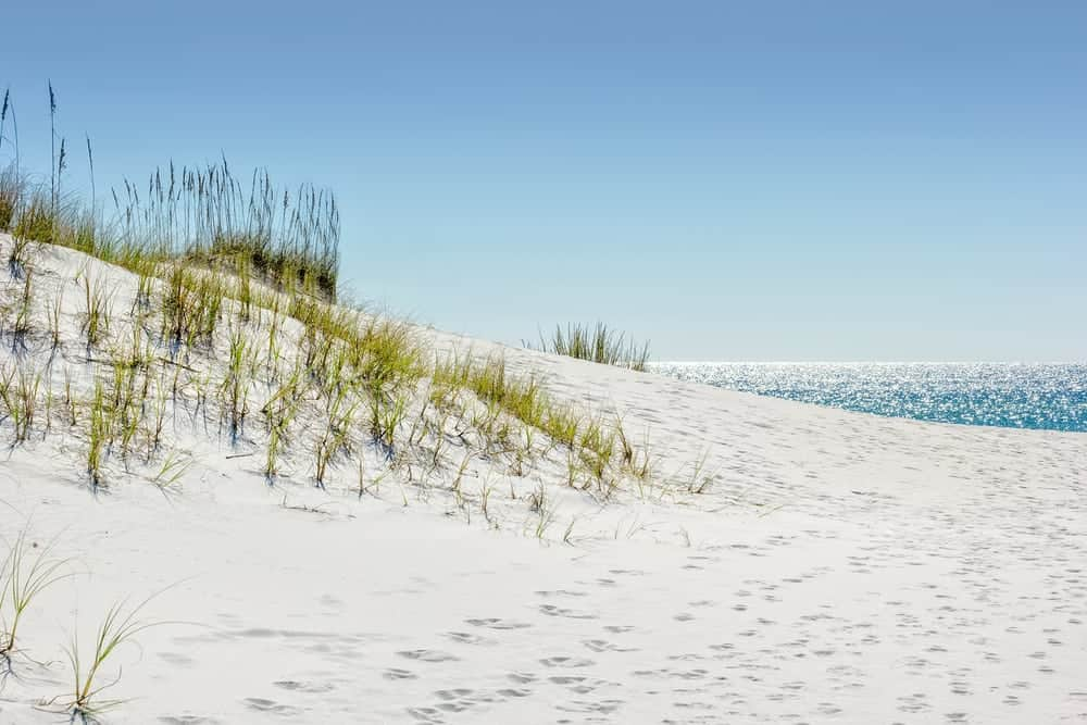 Sandy beach in Emerald Coast