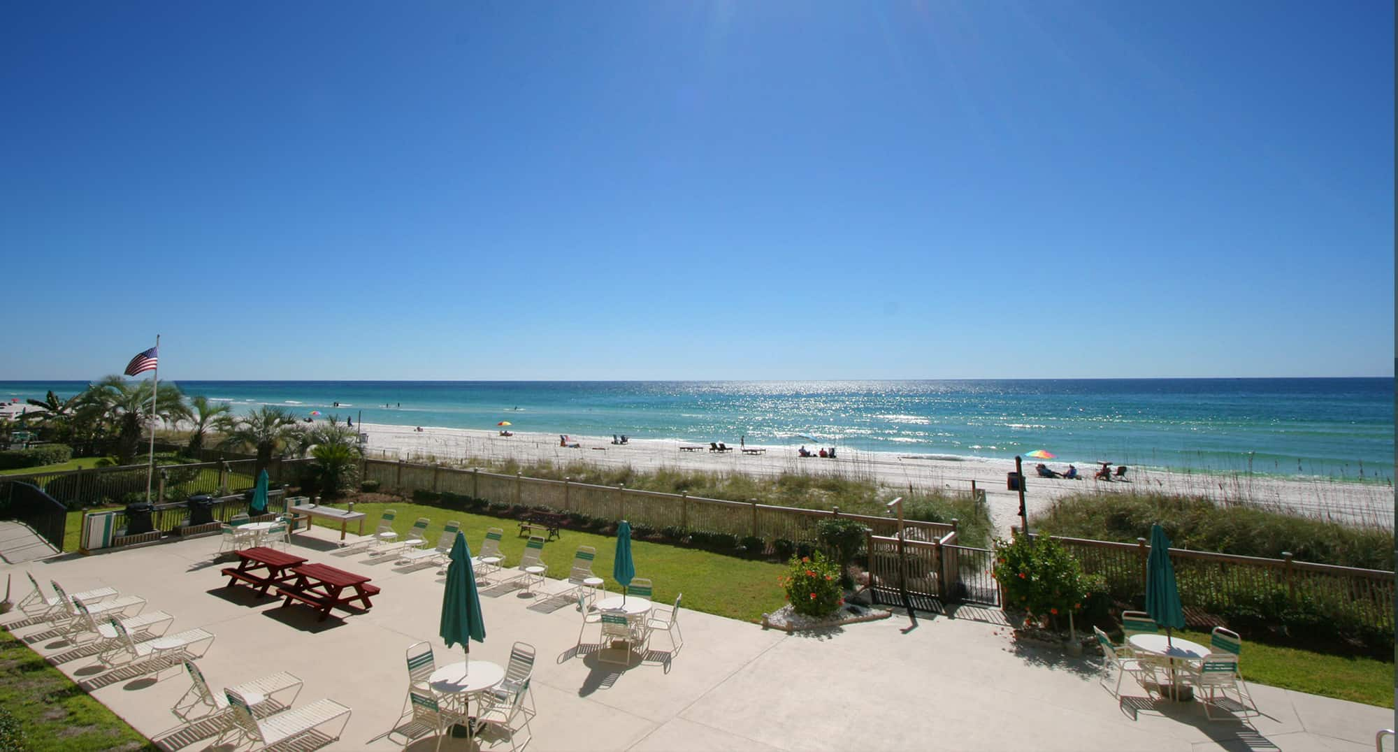 Gulf view from Emerald Coast vacation home